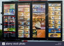 mcdonalds drive thru menu 2014. Plain Drive Drive Through Menu At A Fast Food Restaurant McDonaldu0027s  Stock Image Inside Mcdonalds Thru Menu 2014 C