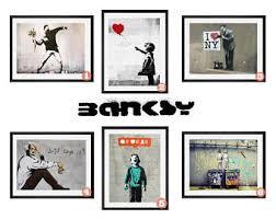 banksy banksy poster banksy print banksy collection set of 6 banksy wall art graffiti art banksy art banksy wall art on banksy wall art prints with banksy print etsy