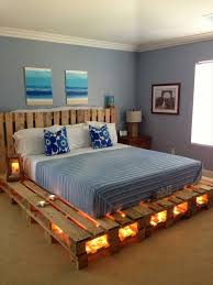 Build your own bed and decorate with light chains