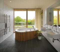 ... Bathroom, Remarkable Japanese Bathroom Design Typical Japanese Bathroom  Grey Wall Wooden Floor Bath Pot Plant ...