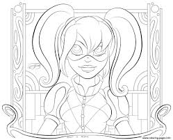 print kid hd harley quinn coloring pages misc also cartoon