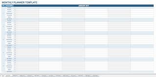 Planner Sheet 15 Free Monthly Calendar Templates Smartsheet