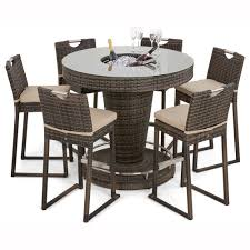 Ice Bucket Table Maze Rattan 6 Seater Bar Set With Ice Bucket Table The Uks No