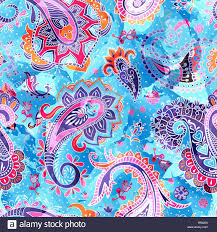 paisley pattern colorful paisley pattern stock vector art illustration vector