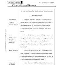 narrative essay format examples of narrative essays for middle school format essay outline