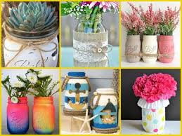 Decorating Ideas With Mason Jars 100 Wonderful Summer Mason Jar Decorations Ideas DIY Summer Room 77