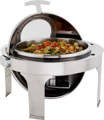 Latest Chafing Dishes Designs Chafing Dish With Window 6 8lt Round Catro Catering