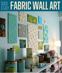 fabric wall art diy projects craft