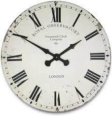 extra large cream greenwich wall clock