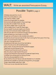 Persuasive Essay We Can Change The World If I Could Do One Thing