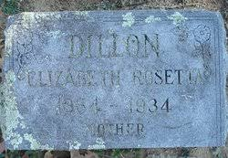 Elizabeth Rosetta Smith Dillon (1864-1934) - Find A Grave Memorial