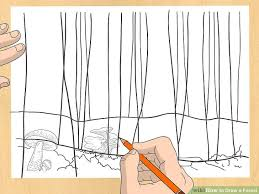 image led draw a forest step 14