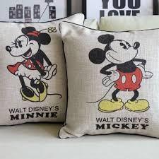 retro mickey mouse cushion mickey and minnie cartoon cushion
