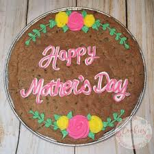 Message Cookie Designs Mothers Day Chocolate Chip Cookie Cake Message Cookies In