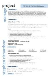 Sample Resume It Project Manager Sample Project Manager Resume