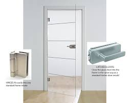 hardware and fitting details for full glass single doors