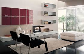 Furniture:Modest Living Room Wall Furniture With Neat White Wall Bookshelf  And Relaxing Black Lounge