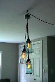 swag lamp shade how to make a that plugs in 3 jar chandelier light mason kit tire