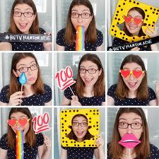 diy snapchat inspired photobooth props