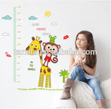 Baby Height Wall Chart Kids Cartoon Height Growth Chart Wall Sticker Giraffe Wall Chart For Baby Learning Height Measurement Kid Wall Owl Animals Art Buy Numbers Wall
