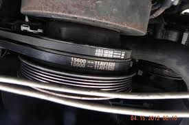 1986 1989 p30 chassis component numbers topic on the bracket for the top air pump this label appears but barely legible this shows the correct routing for the belts