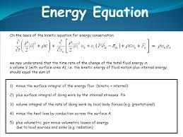 energy equation fluids. 35 energy equation fluids s