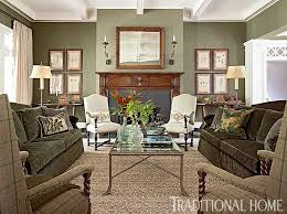 Green Traditional Living Room