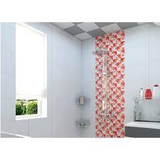 Red Glass Mosaic Tiles Crackle Tile Hand Paint Kitchen Wall Decor Backsplash