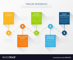 Modern Timeline Workflow Chart Infographic