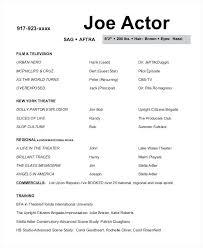 Actors Resume Examples Acting Resume Sample Free Acting Sample