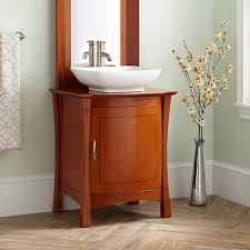 24 frisco vessel sink vanity cherry