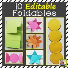 Editable Foldable Templates Editable Foldable Templates By Tiarras Teaching Techniques Tpt