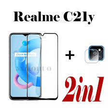 2in1 For Realme C21y Tempered Glass ...