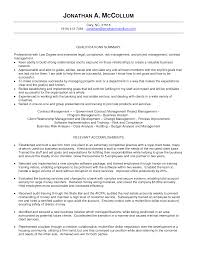 Transform Resume Business Manager Sample About Business Management
