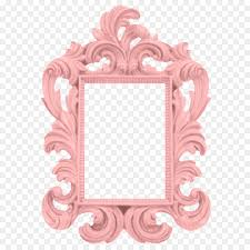 picture frames baroque paint mirror wall pink border