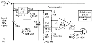 security electronics systems and circuits part 9 nuts volts practical gas detector alarm circuit powered from an external 12v dc supply