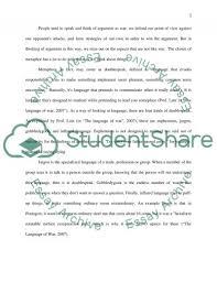 metaphors as doublespeak essay example topics and well written  metaphors as doublespeak essay example