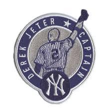 Majestic Yankees Men's York Derek Base Patch Jersey Jeter New Retirement White Cool