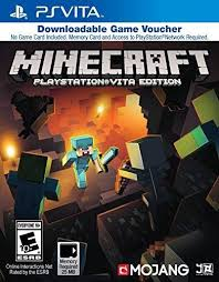 Minecraft Game Voucher Playstation Vita Christmas List