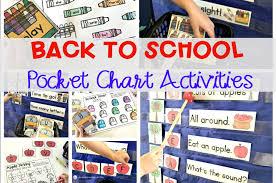 Back To School Pocket Chart Activities For Pre K Kindergarten
