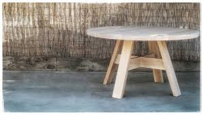 white oak round dining table