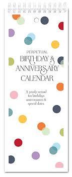 Birthday Anniversary Calendar Amazon Com Confetti Dots Perpetual Birthday Anniversary Calendar
