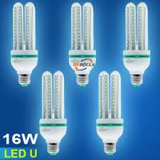 Giảm 25 %】 Bộ 5 Bóng Đèn LED U công suất 16W (Ánh Sáng Trắng)