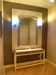 entryway table with mirror. Contemporary Ikea Hack Entryway Table With Double Drawers Combine Large Mirror Frame Design A