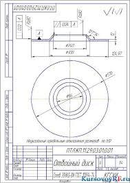 Курсовая разработка проекта механизации линии изготовления кормов  Чертеж режущего аппарата Чертеж детали отбойный диск