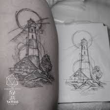 Lighthouse Sketch Tattoo Mr J Best Sourgrapestattoo 132 Flickr