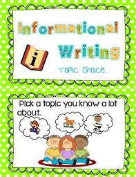 Topic Chart For Writing Informational Writing Topic Choice Chart Cards