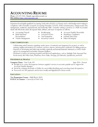 Accounting Resume Template 79 Images Example Fundraising