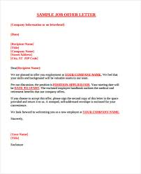Email Accepting Job Offer Amazing 48 Sample Offer Letter Template Free Premium Templates