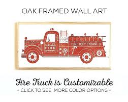 fire truck wall art truck fire engine wall art